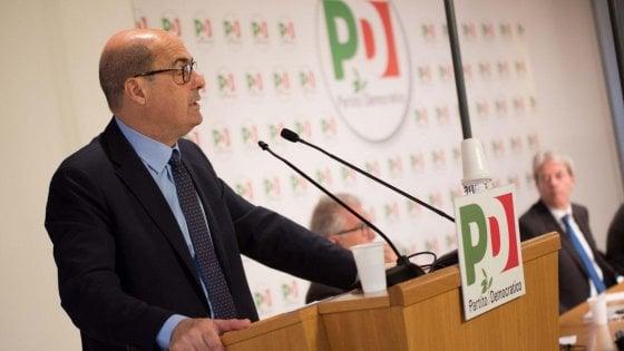 """Pd, prima direzione con Zingaretti: """"Costruire rete di alleanze intorno ai dem. Anche 'Siamo europei' nel simbolo"""""""