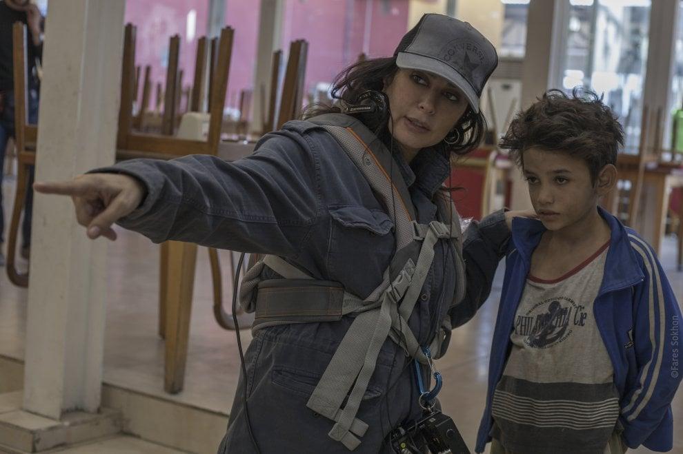 Sul set di 'Cafarnao' con Nadine Labaki
