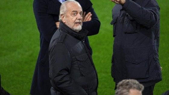 """Napoli, De Laurentiis: """"Ancelotti con noi 8 anni? No, lo voglio per sempre"""""""