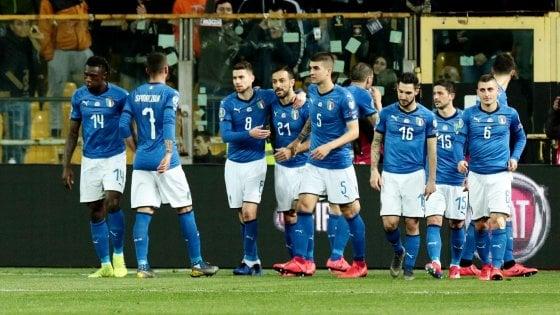 Nazionale, Mancini: ''Giocare bene e vincere, l'Italia ci vuole così''