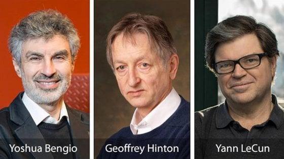 Premio Turing ai tre pionieri dell'Intelligenza artificiale