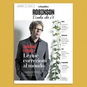 Le confessioni di Jonathan Franzen su Robinson in edicola domani