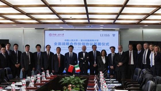 Cina e Italia sempre più vicine. Delegazione della Luiss a Pechino per collaborare con l'omologa cinese