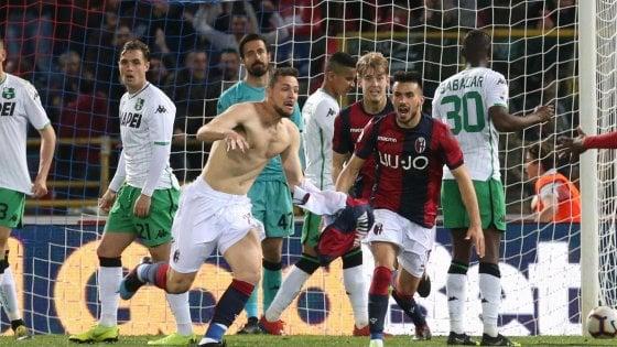 Sassuolo, botta in allenamento per Berardi: in serio dubbio per il Bologna