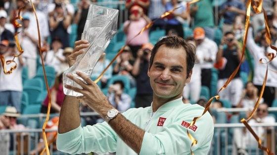 Miami Open, trionfo Federer: lo svizzero ha battuto Isner in finale