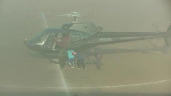 Rapito in campo con l'elicottero, in Sicilia l'addio al calcio diventa uno show