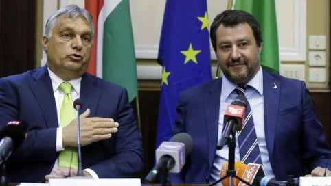 """Europee, Le Pen, Orbán e gli austriaci disertano la convention dei sovranisti di Salvin. Lega: """"Non erano previsti"""""""