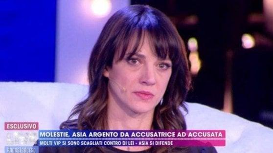 """Asia Argento risponde a Morgan: """"Spero che sia stato pagato bene per dire tutte quelle menzogne in tv"""""""