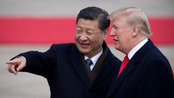 Il presidente cinese Xi Jinping con quello americano, Donald Trump