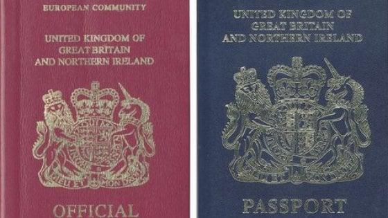 Brexit nuovi passaporti Regno Unito senza dicitura Unione Europea