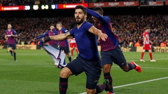 Spagna: il Barcellona batte l'Atletico, le mani sulla Liga. Real vince in rimonta
