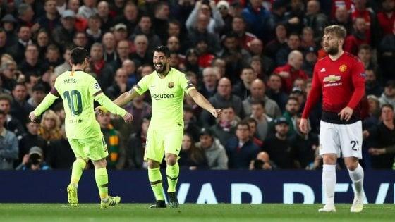 Diretta Manchester United-Barcellona ore 21: dove vederla in tv e probabili formazioni