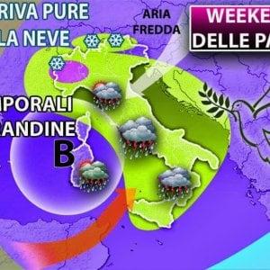 Meteo, arrivano i temporali su gran parte dell'Italia