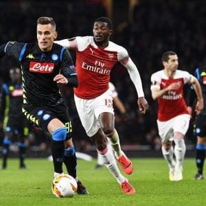 Europa League, Arsenal-Napoli 2-0: gli azzurri regalano un tempo, ora è dura