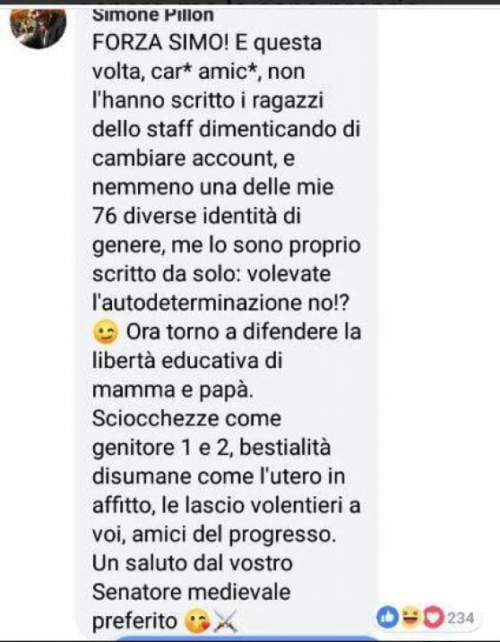 commento finale Pillon
