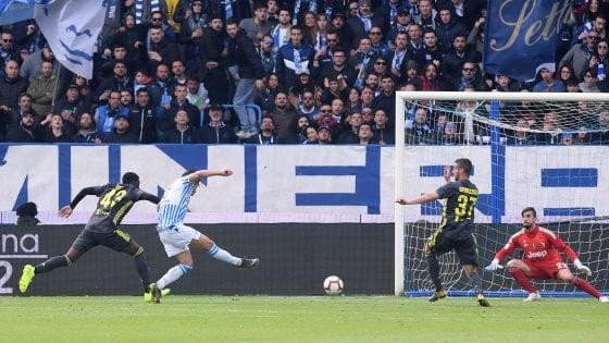 Spal-Juventus 2-1, Floccari rimanda la festa scudetto dei bianconeri