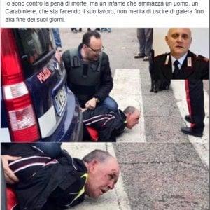 """Salvini pubblica la foto dell'arresto del killer del carabiniere: """"Non esca di galera"""""""