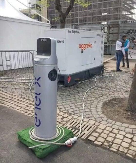 E al Gp di Roma le elettriche si ricaricano con il gasolio...