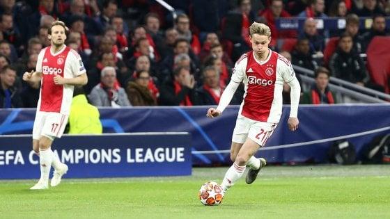 Ajax, allarme per de Jong: si fa male in campionato, rischia la Juve