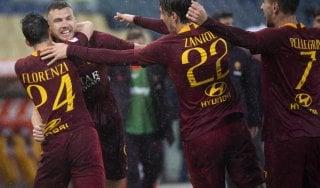 Roma-Udinese 1-0, Dzeko si riprende l'Olimpico e tiene vive le speranze Champions