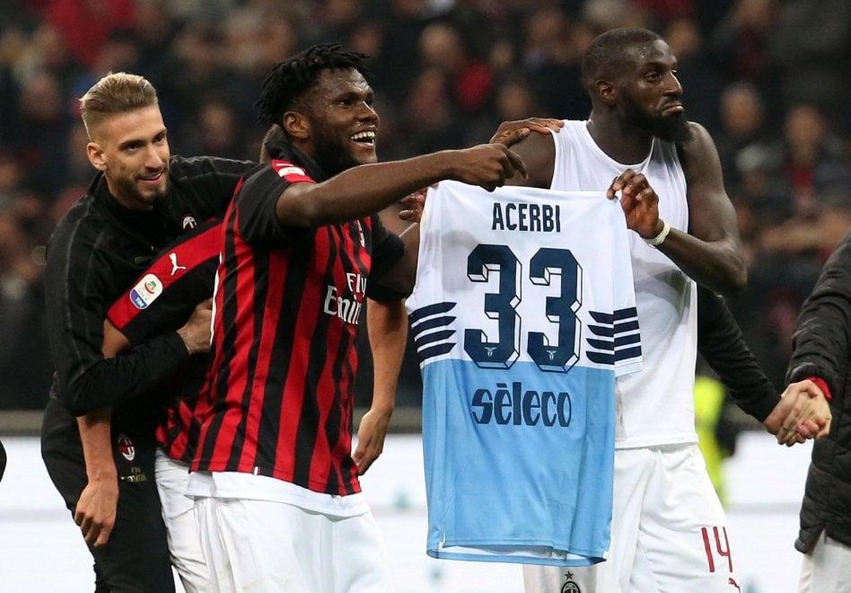Milan-Lazio, Kessié e Bakayoko prendono in giro Acerbi