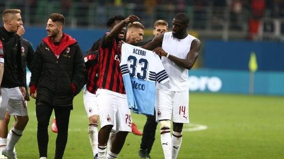 Milan-Lazio, chiesta la prova tv per Kessie e Bakayoko. Giorgetti: ''Gesto maglia Acerbi stupido e indegno''