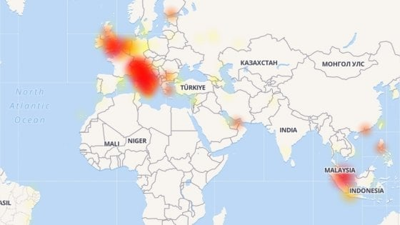 Facebook, Instagram e WhatsApp Down, malfunzionamento in Europa