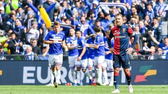 Sampdoria-Genoa 2-0, Defrel e Quagliarella decidono il derby