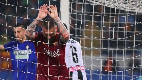 La Roma perde De Rossi, stop di due-tre settimane