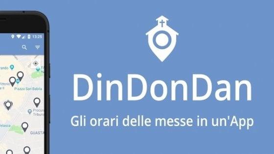 Arriva DinDonDan, l'app per conoscere gli orari delle messe