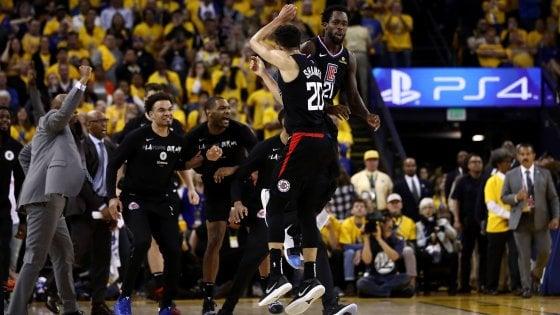 Basket, playoff Nba: Clippers da record, rimontano da -31 e battono Golden State