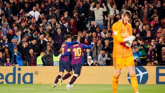 Barcellona-Manchester United 3-0: Messi porta i blaugrana in semifinale