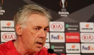 """Napoli, Ancelotti: ''Servono coraggio, intelligenza e cuore"""""""
