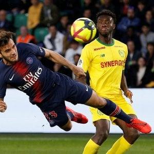 Ligue1: Psg cade anche a Nantes, festa scudetto rimandata