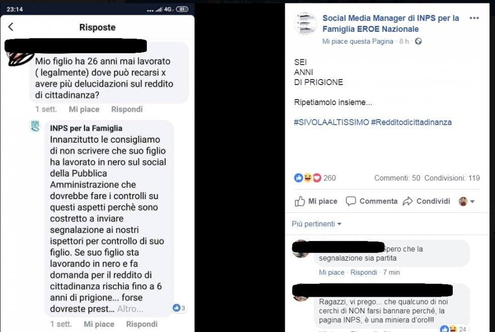 """Inps per la famiglia, la pagina Facebook diventa virale per le risposte agli utenti sul Reddito di cittadinanza. """"Social media manager eroe nazionale"""""""