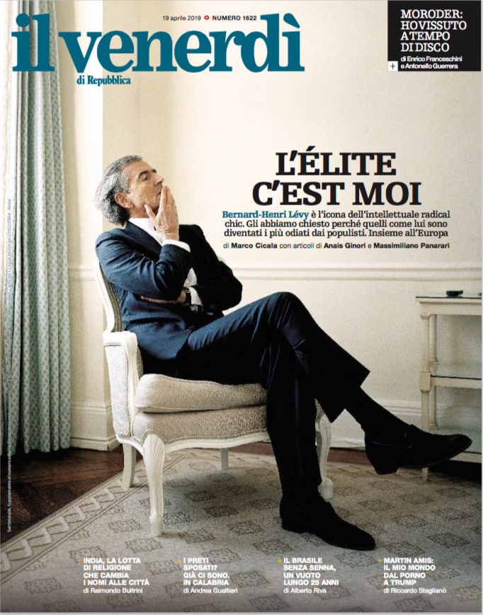 Bernard-Henri Lévy: «L'Europa, i gilet gialli e noi, l'odiata élite»
