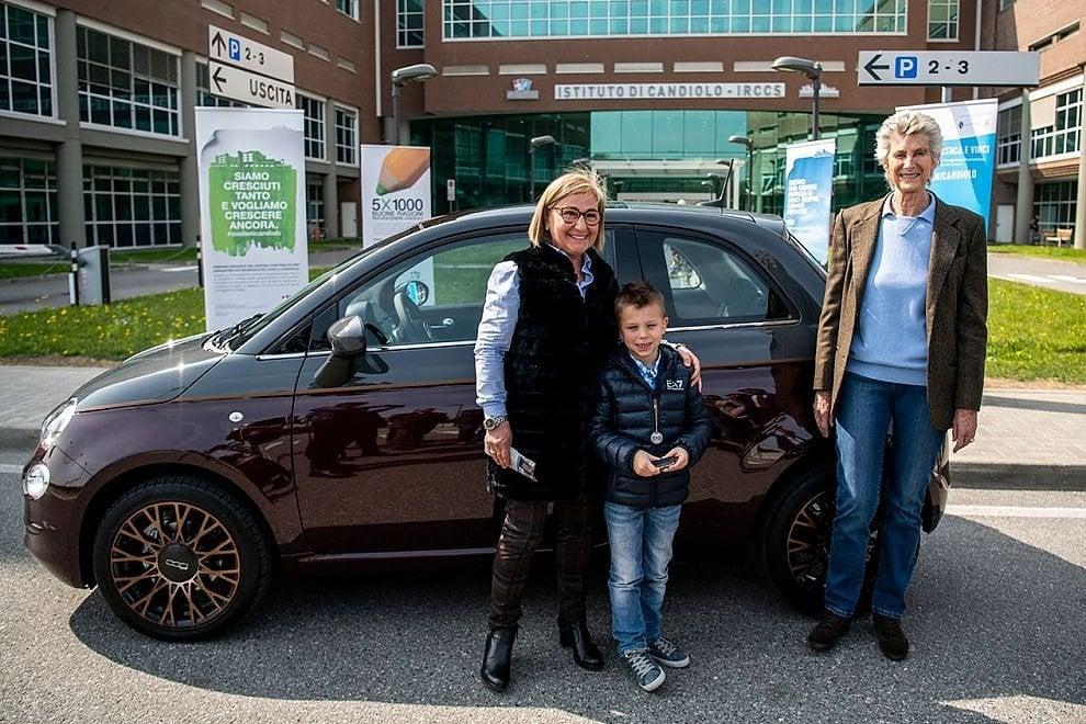 """Lotteria """"Ricerca la Fortuna"""" consegnato a Candiolo il primo premio, una Fiat 500 Collezione"""