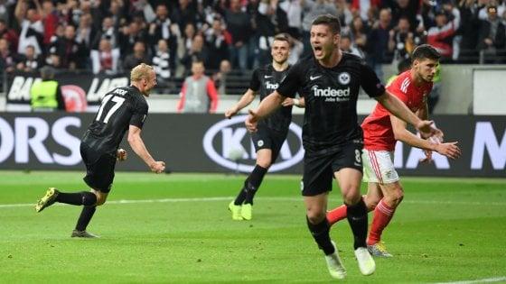 Europa League: impresa Eintracht, Benfica eliminato. Chelsea e Valencia in semifinale