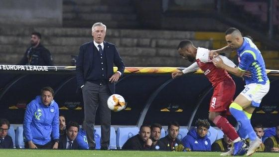 """Napoli, Ancelotti: """"Non abbiamo sbloccato e siamo stati puniti"""""""