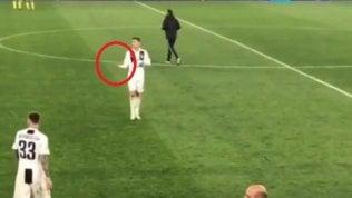 Ronaldo: il gesto alla fine di Juventus-Ajax fa discutere