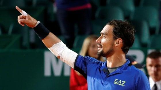 Tennis, Montecarlo: spettacolo Fognini, è in semifinale con Nadal. Eliminato Sonego