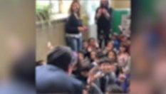 Conte in visita in una  scuola romana e i bimbi finiscono sui tg e sui social. I genitori dal Garante video