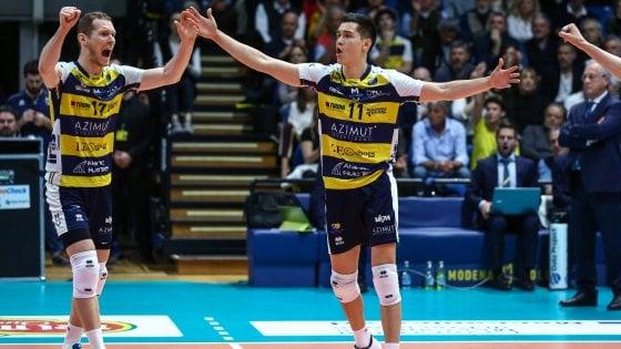 Volley, semifinali scudetto: Civitanova raddoppia, Modena pareggia i conti