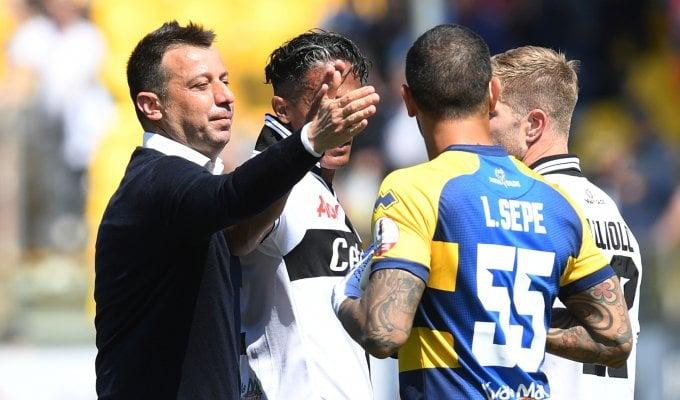Parma, D'Aversa: ''Pareggio ci sta stretto''