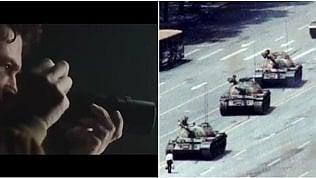 Lo scatto del 'tank man' nello spot: la Cina censura e rimuove