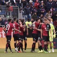 Cagliari-Frosinone 1-0, Joao Pedro firma la vittoria salvezza
