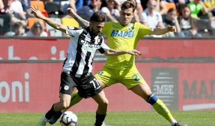 Sassuolo si illude con Sensi Lirola (autogol) salva l'Udinese: 1-1