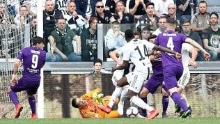 Match ball scudetto:Juventus-Fiorentina 2-1Lazio, quanti errori: ko in casa col Chievo