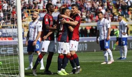 Tris del Bologna, la Sampdoria affonda  · Litigio con Ferrero, lascia Sabatini