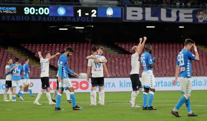 Napoli spreca, Atalanta da Champions: 1-2